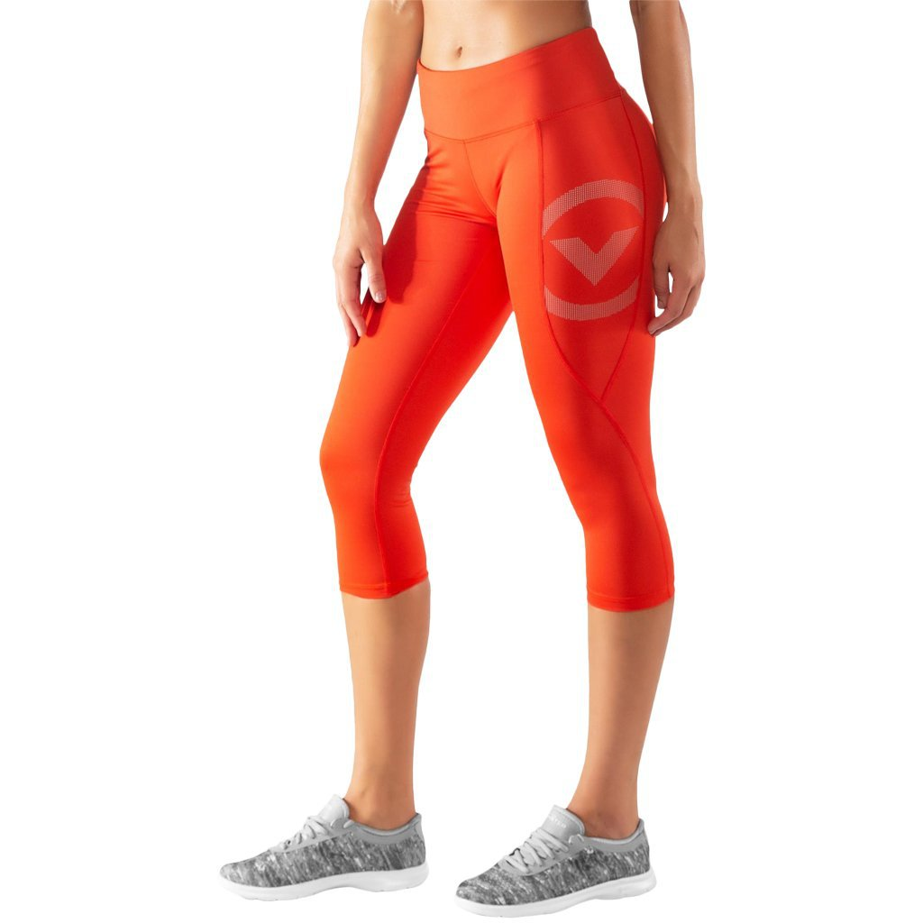 Virus ECo34 | Stay Cool Compression Crop Pant Blood Orange
