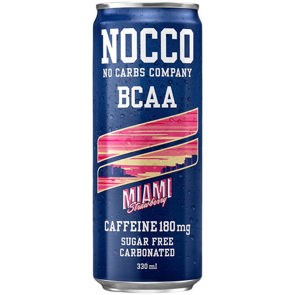 Nocco BCAAs Miami Strawberry 330ml Can
