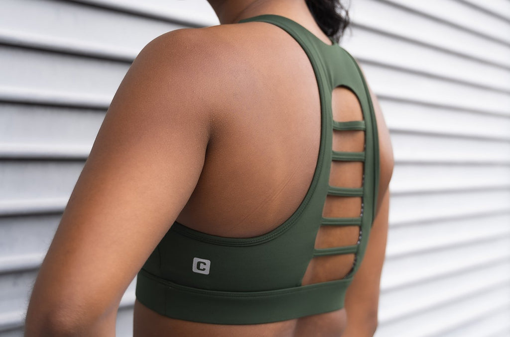 Chestee The T - Forest Green Sports Bra