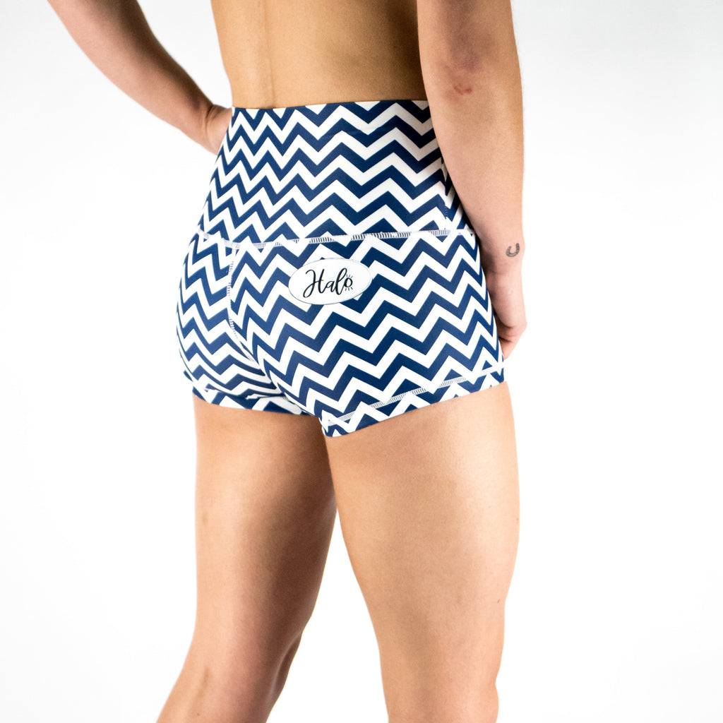 Halo Zig Zag High Rise Roll Down Booty Shorts