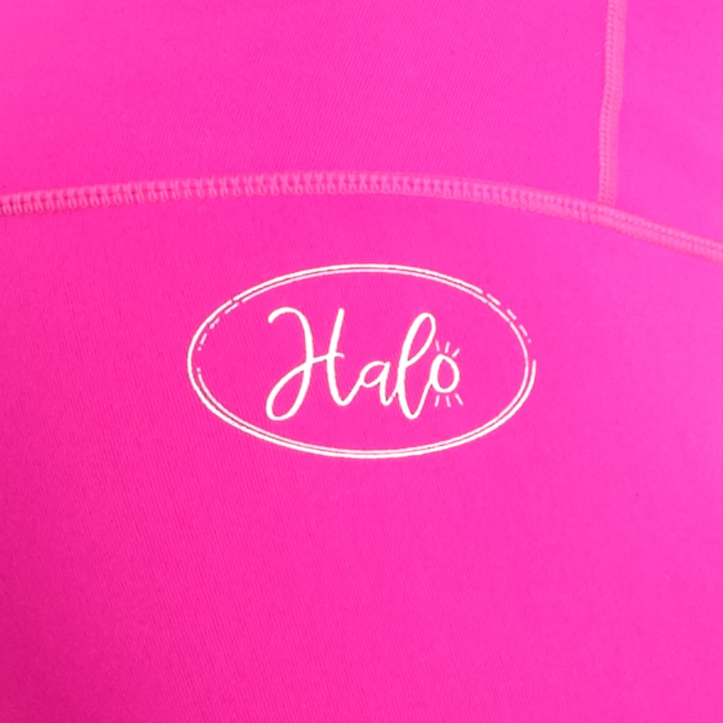 Halo Neon Pink 7/8 Squat Stretch Leggings