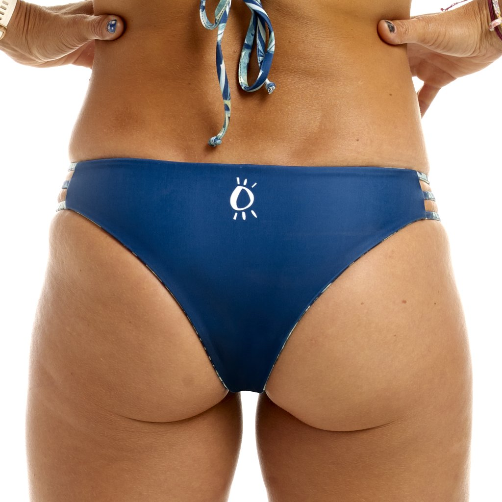 Halo Rainforest / Navy Reversable Cheeky Bottoms