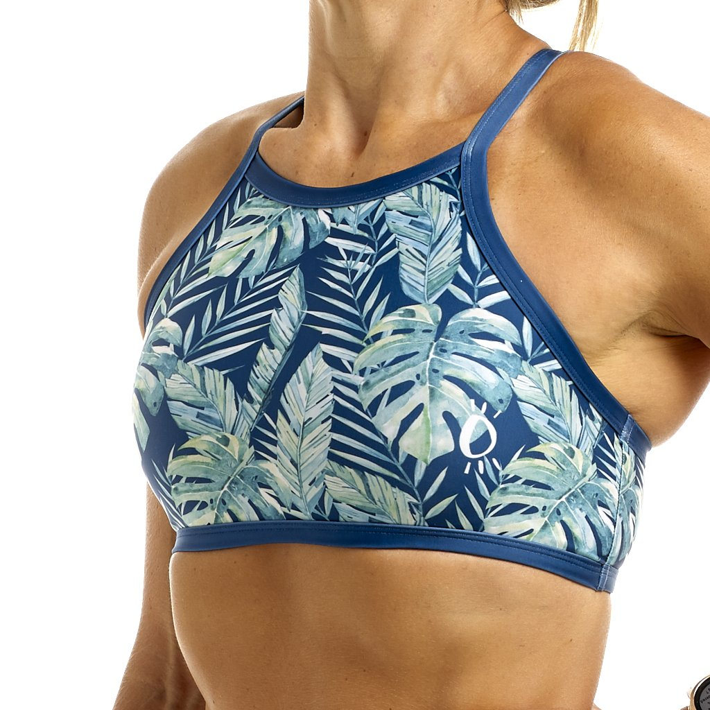 Halo Rainforest High Neck Bikini Top