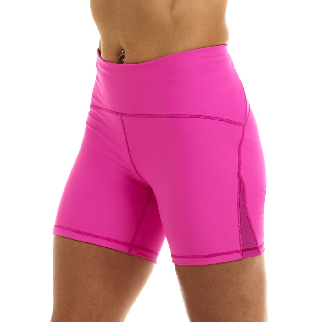 "Halo Neon Pink High Rise 6"" Shorts"