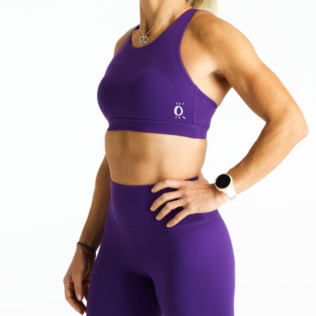 Halo Monsoon Sports Bra in Eggplant
