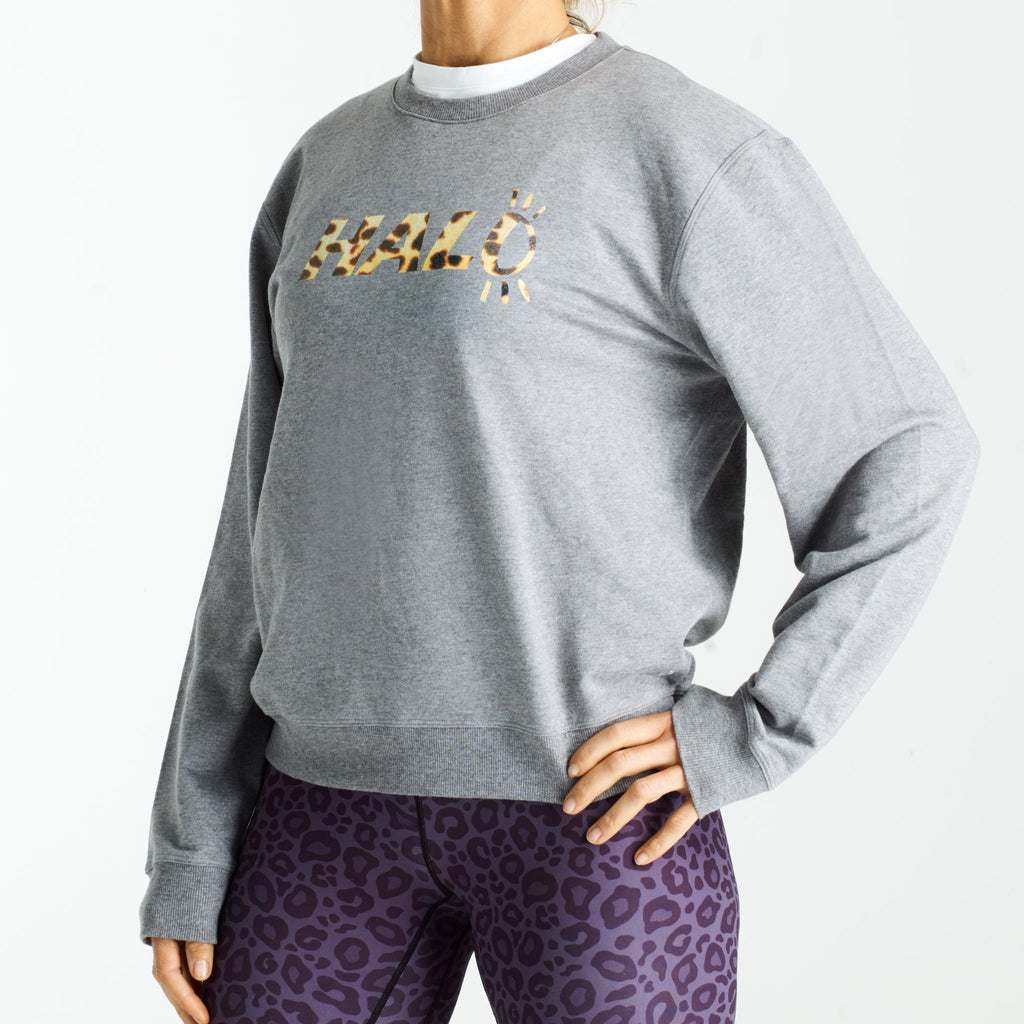 Halo Leopard Training Top in Grey