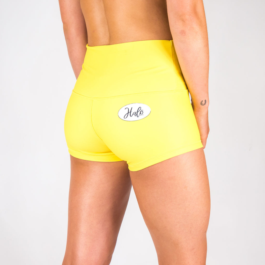 Halo Summer Sunshine High Rise Roll Down Booty Shorts