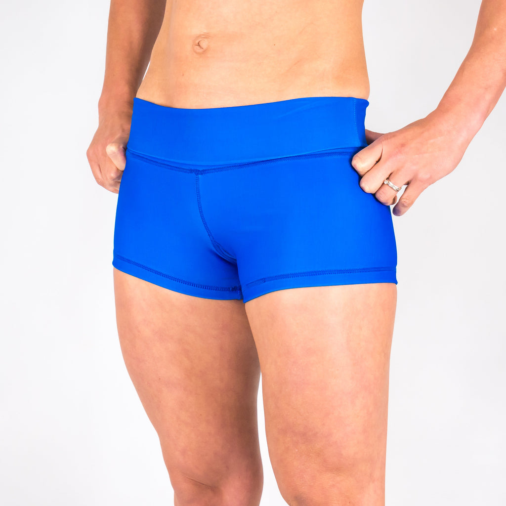 Halo Blue Lagoon High Rise Roll Down Booty Shorts