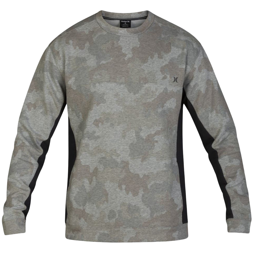 Hurley Dri-Fit Naturals Fleece Crew Camo Green