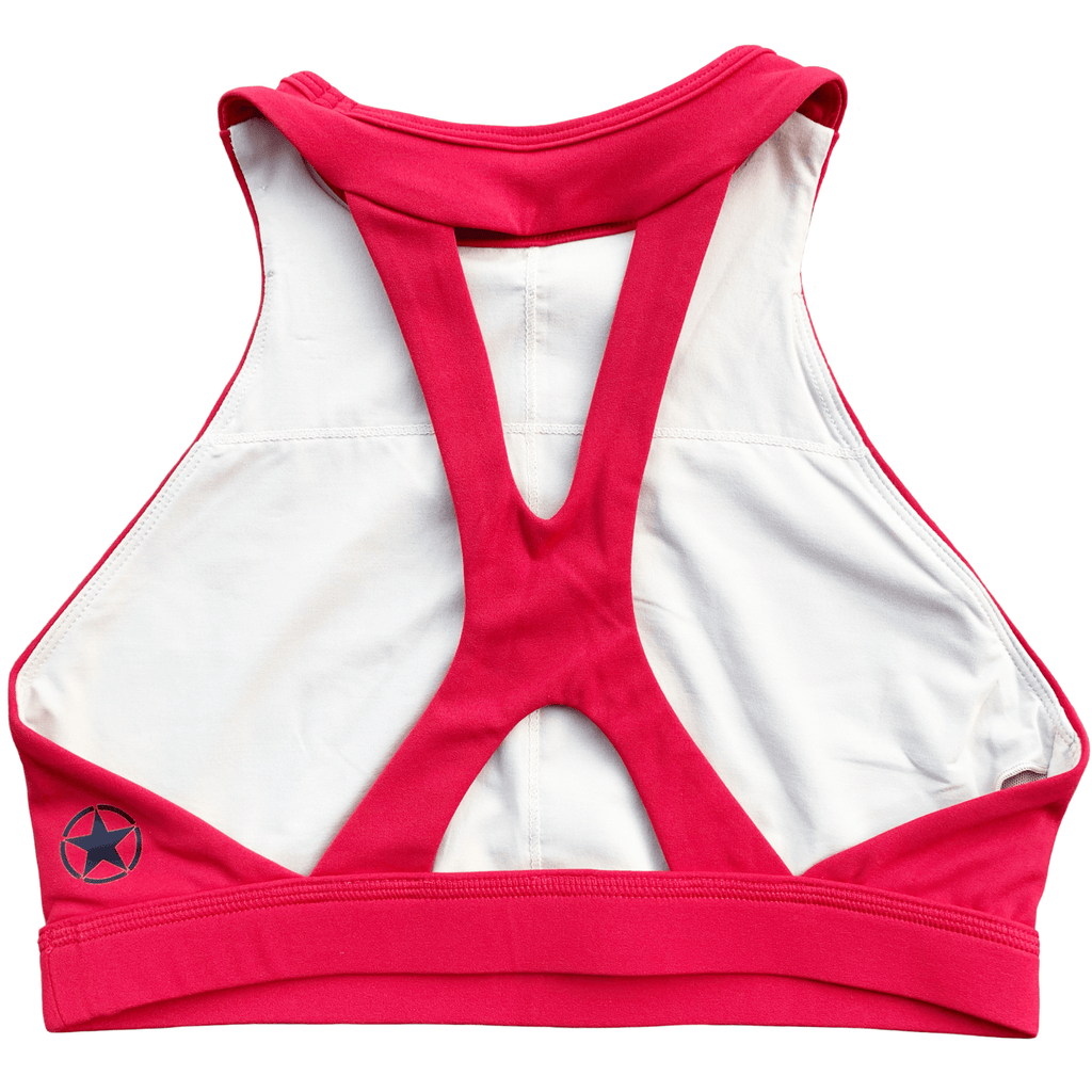 Savage High Neck Rose Sports Bra