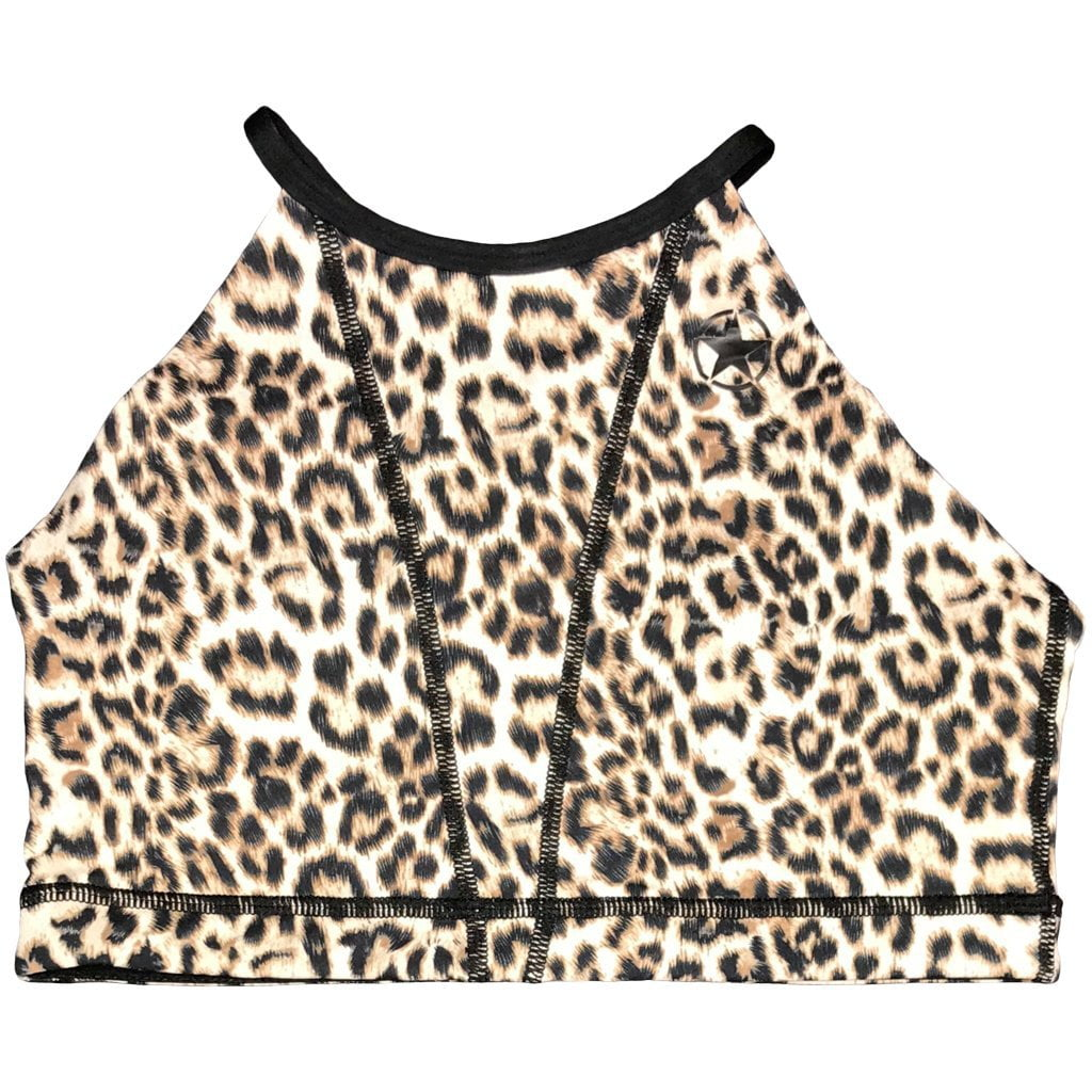 Savage Leopard Web Sports Bra