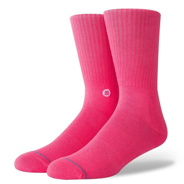 Stance Icon Neon Pink Classic Crew Socks