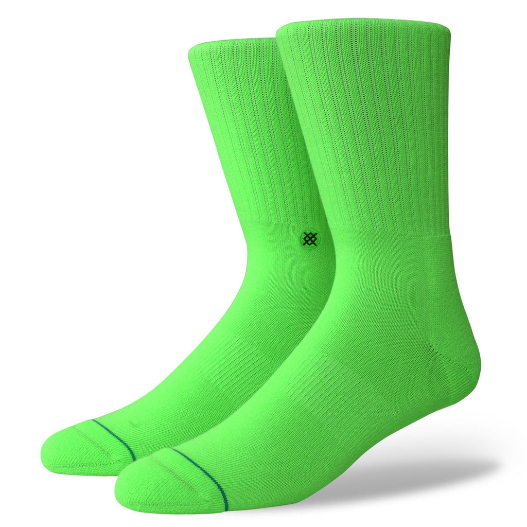 Stance Icon Neon Green Classic Crew Socks