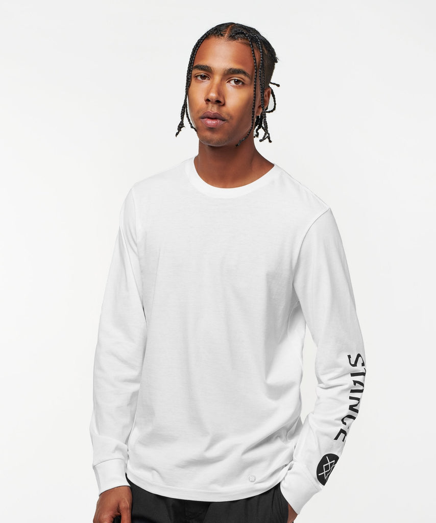 Stance Basis Long Sleeve T-Shirt White