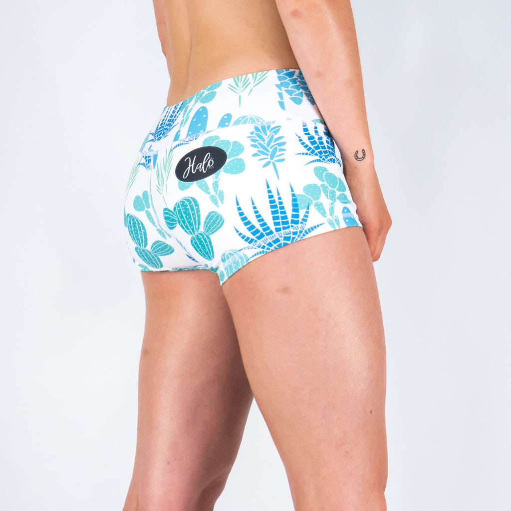 Halo Prickly Pear Mid Rise Booty Shorts