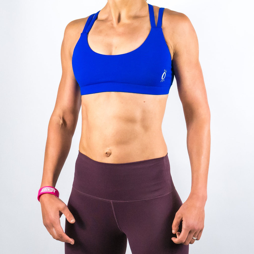 Halo Blue Lagoon Low Rise Sports Bra
