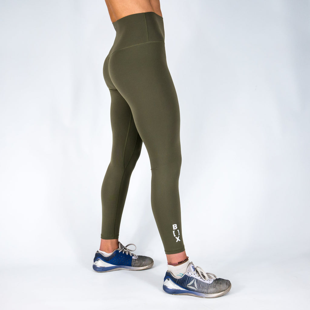 B[ ]X 7/8 Squat Stretch Leggings Olive