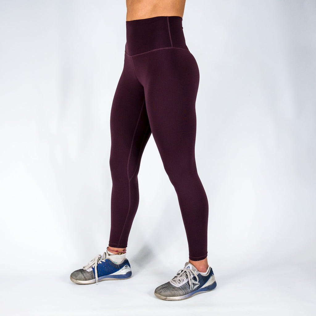 B[ ]X 7/8 Squat Stretch Leggings Dark Red