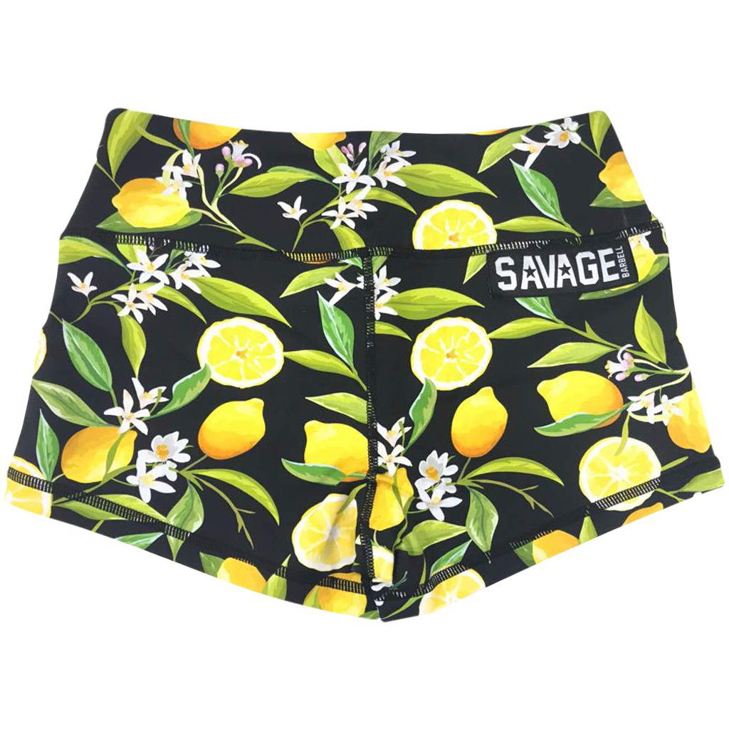 Savage Lemon Black Booty Shorts