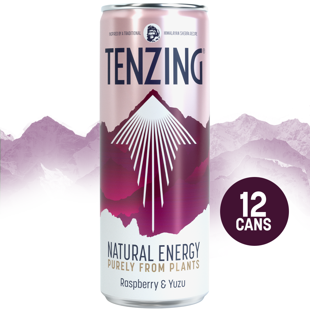 Tenzing Natural Energy Raspberry & Yuzu - 12 x 250ml