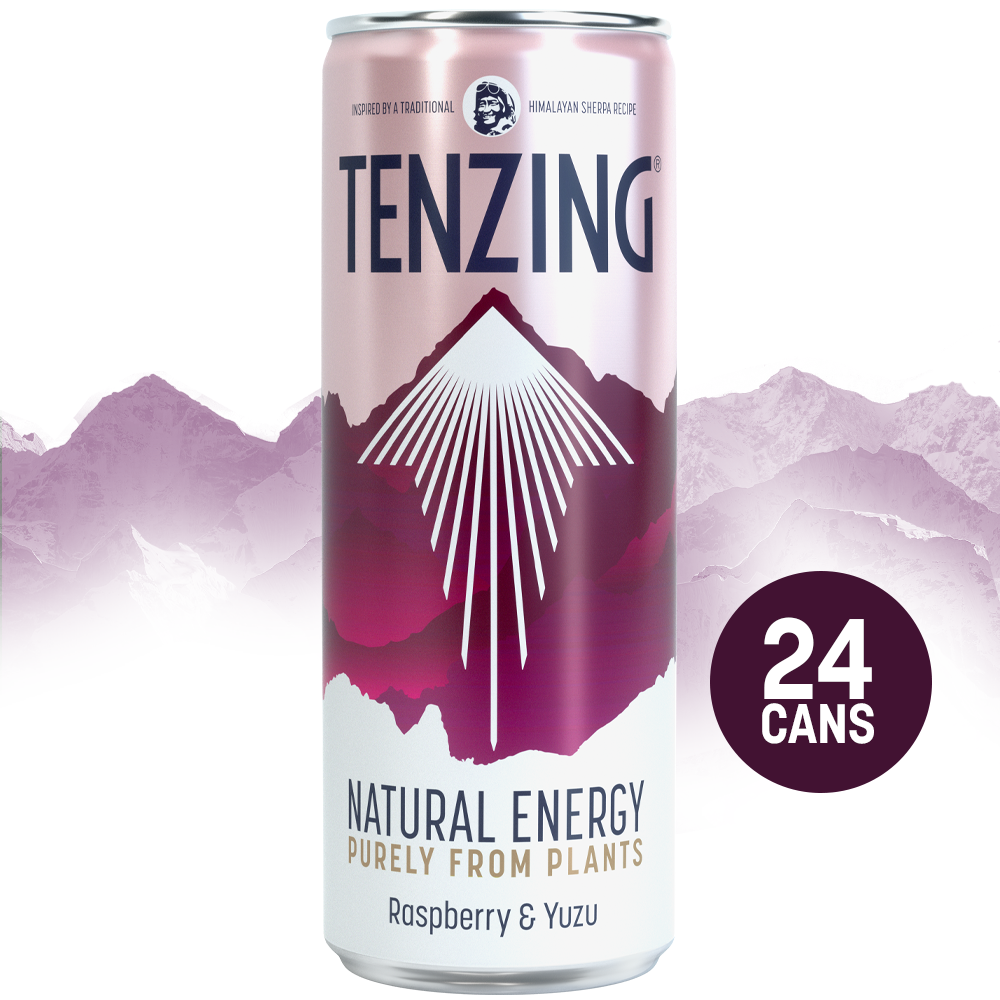 Tenzing Natural Energy Raspberry & Yuzu - 24 x 250ml