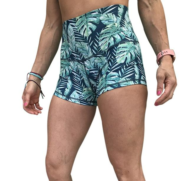 Halo Rainforest High Rise Roll Down Booty Shorts