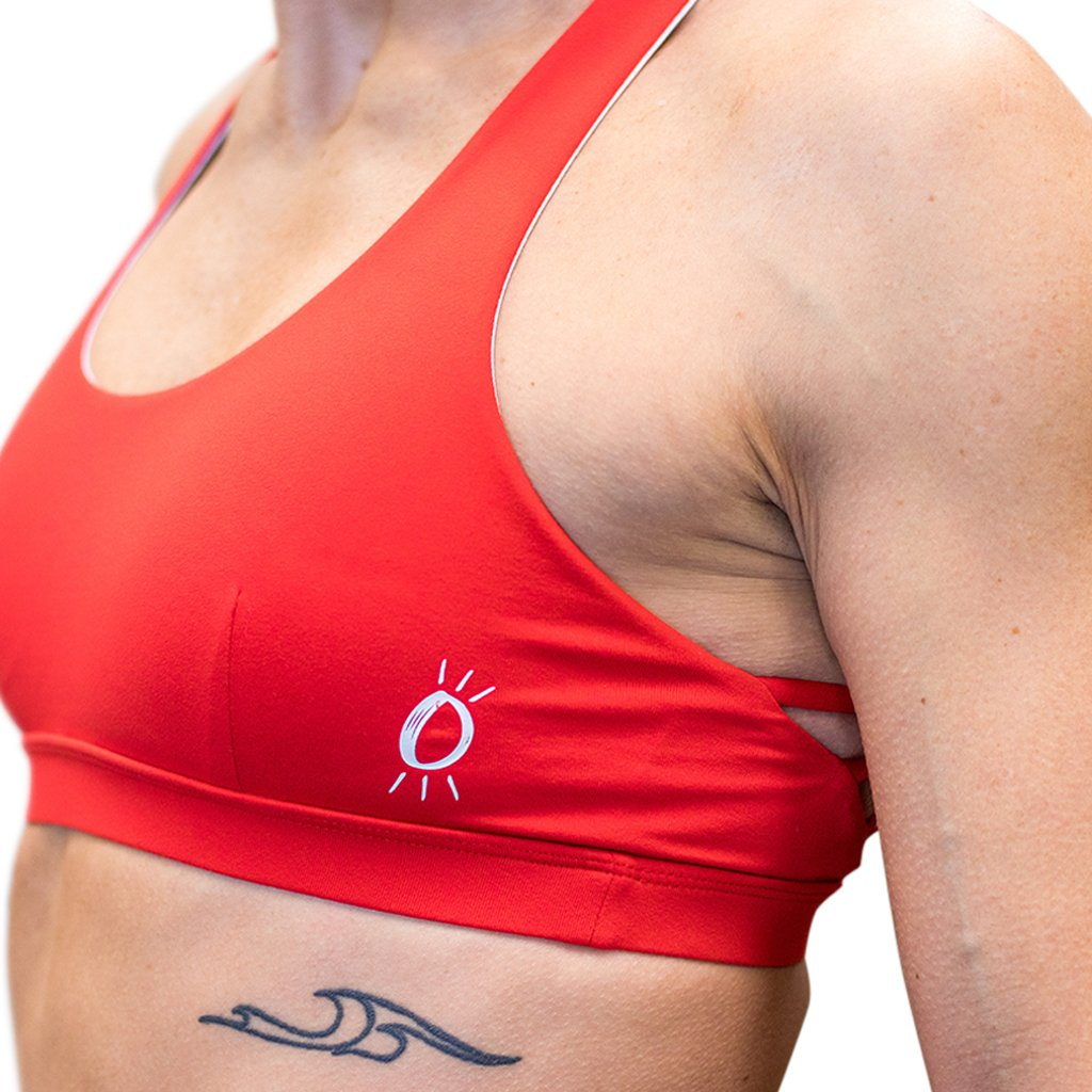 Halo Red Hot Logo Sports Bra