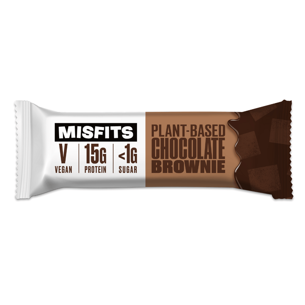 Misfits Vegan Protein Bar - Chocolate Brownie - 12 x 45g