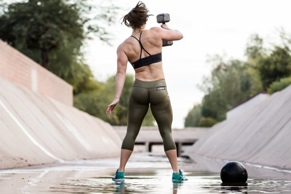 Savage Capri Leggings Army