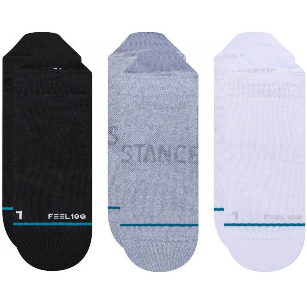 Stance Athletic Prime Tab 3 Pack Training Socks Multi