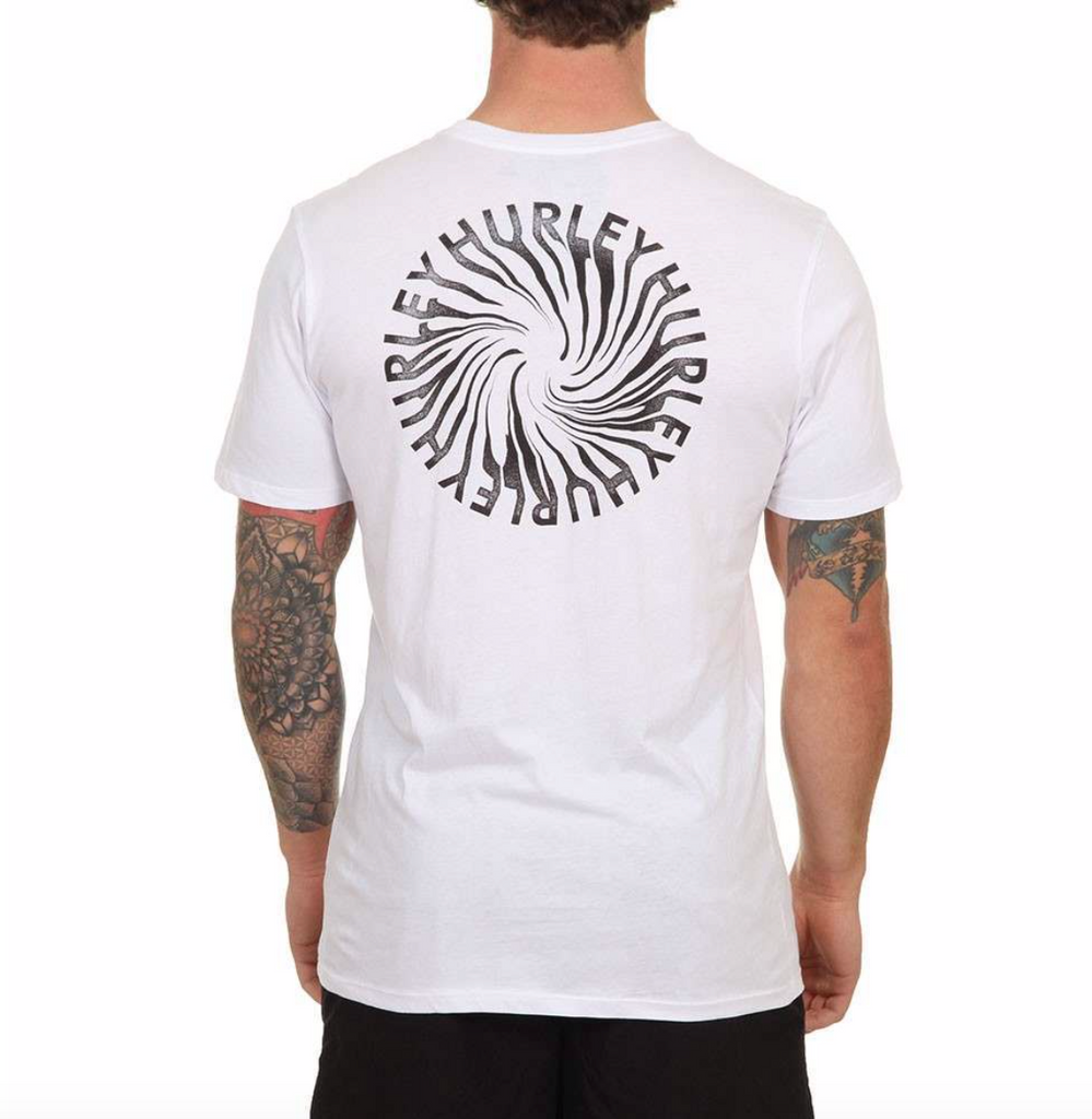Hurley Wormhole Tee White
