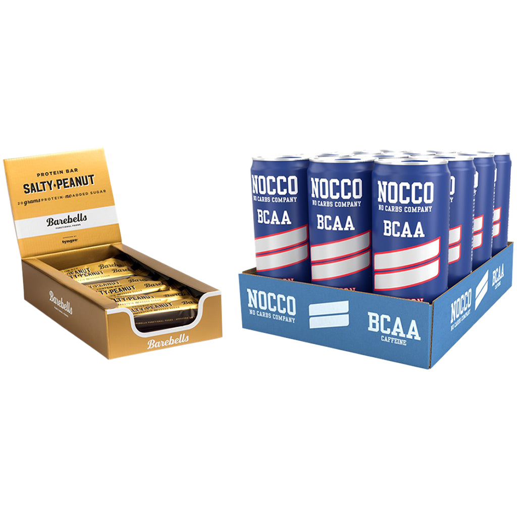 Nocco Passion & Barebells Salty Peanut Bar 12 Pack Bundle