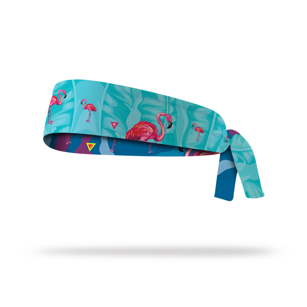Lithe Flamingo Reversible Tie Headband
