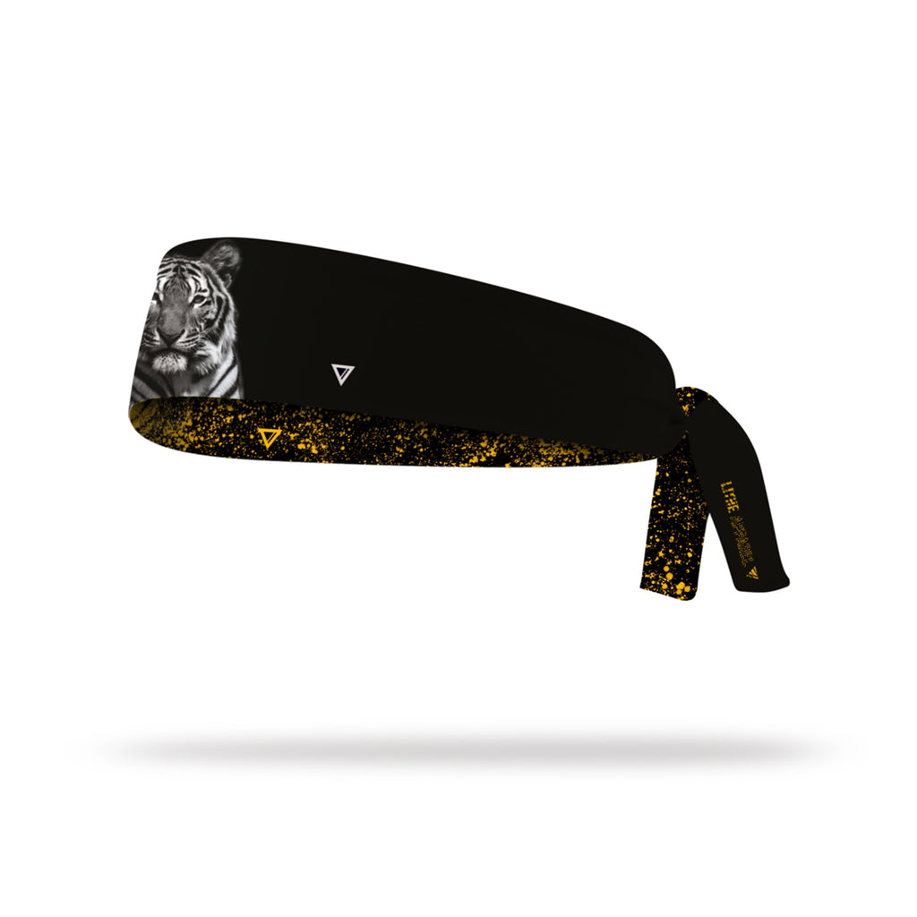 Lithe Tiger Reversible Tie Headband