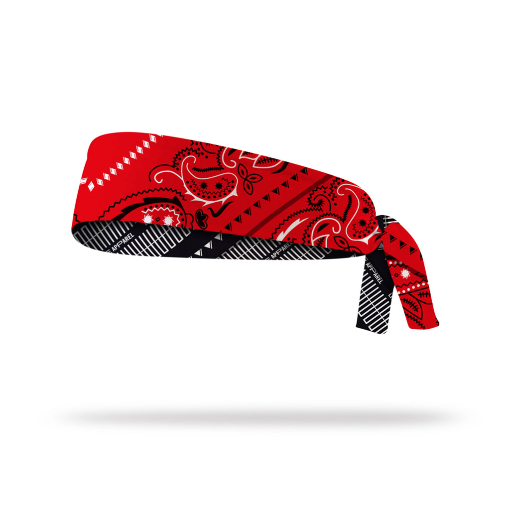 Lithe Paisley Reversible Tie Headband