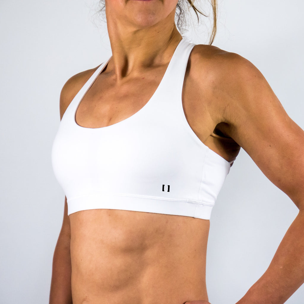 B[ ]X Soft X Over Sports Bra White