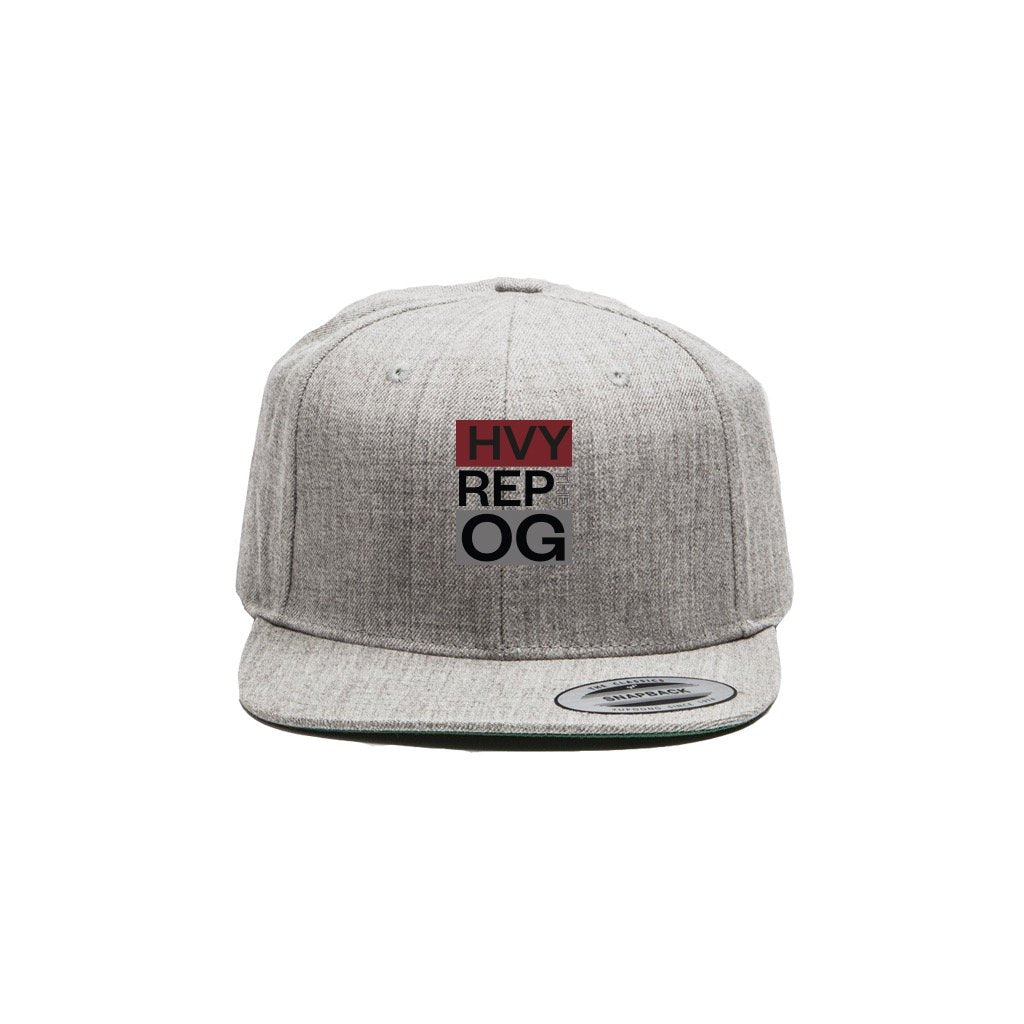 Heavy Rep Gear OG Classic Heather Grey Snapback