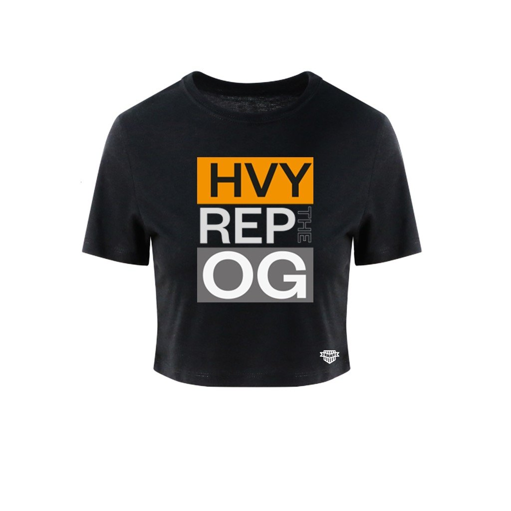 Heavy Rep Gear OG Active Tri Blend Black Crop T-Shirt