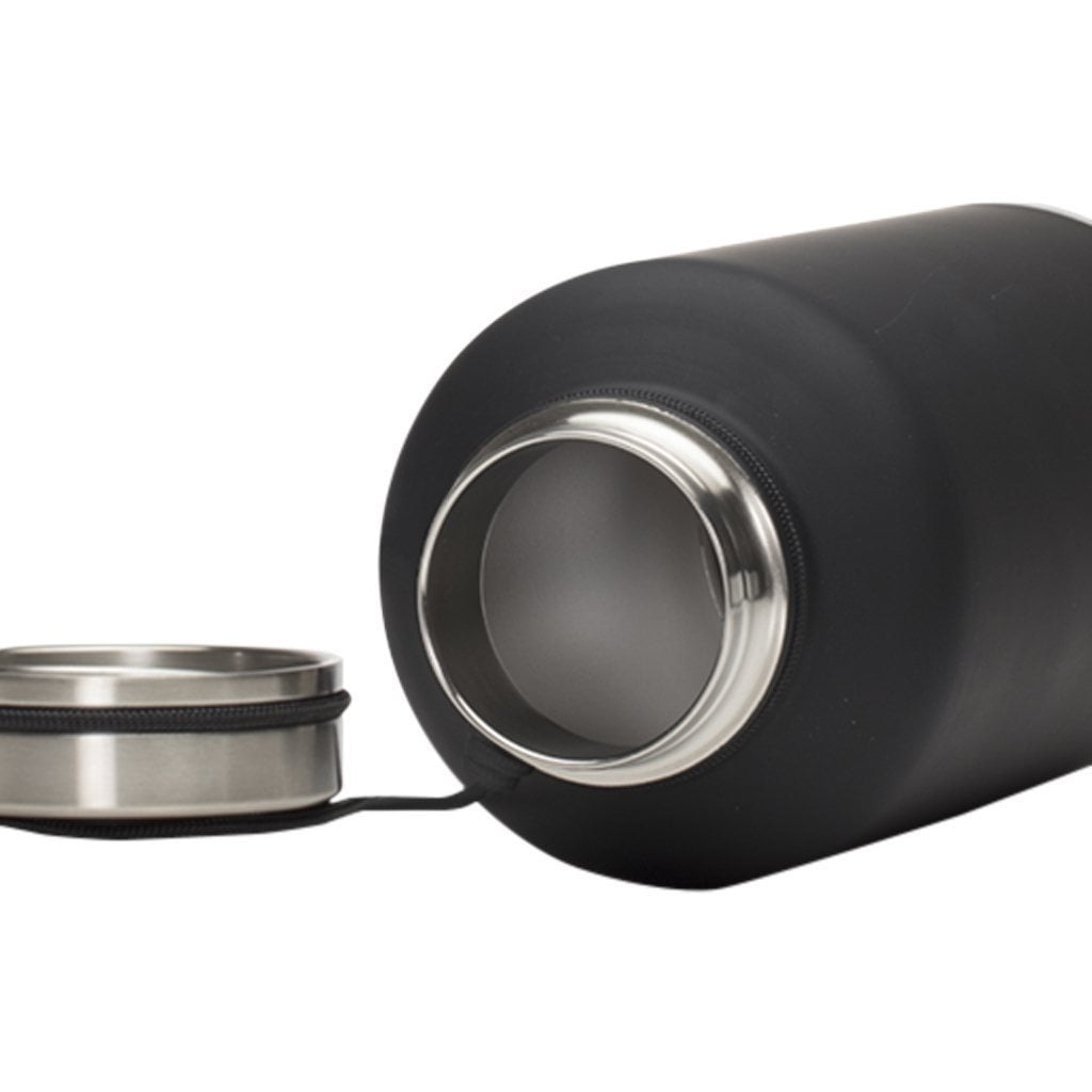 Coffee Flasks - MIZU V20 - Stainless W Black W V-Lid