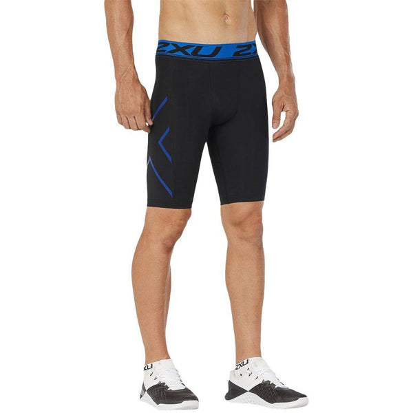 Compression Clothing - 2XU Accelerate Comp. Short Black/Lapis Blue