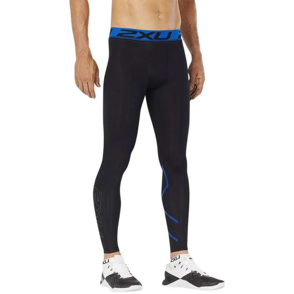 Compression Clothing - 2XU Accelerate Compression Tight Black/Lapis Blue