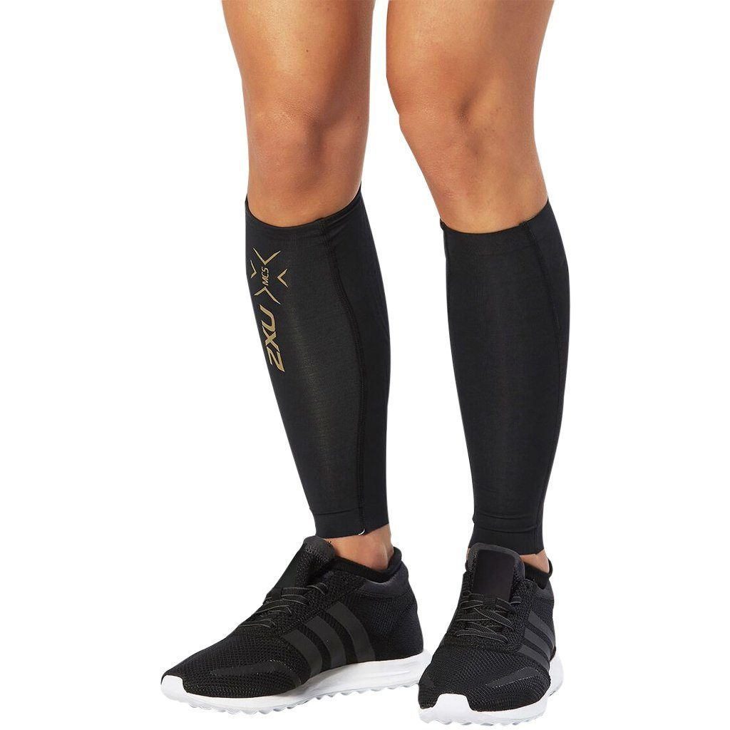 Compression Clothing - 2XU Elite MCS Comp Calf Guard Black/Gold