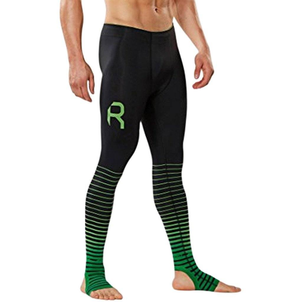 Compression Clothing - 2XU Elite Men's Recovery Compression Tights Black/Green