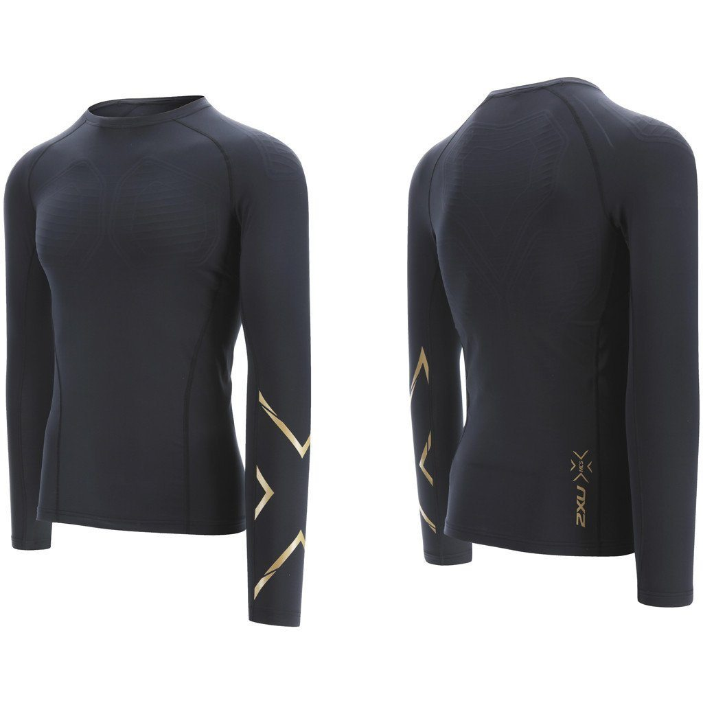 Compression Clothing - 2XU Men's MCS X-Fit Compression Top Black / Gold