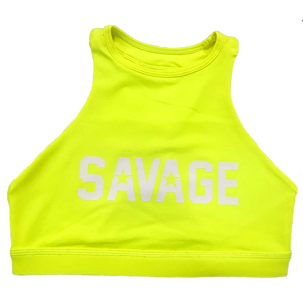 Savage High Neck Glow Stick Sports Bra