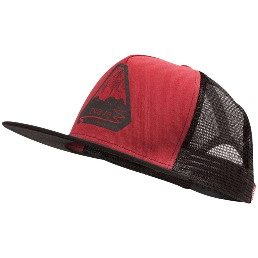 Headwear - Inov8 All Terrain Trucker Cap Dark Red/Black