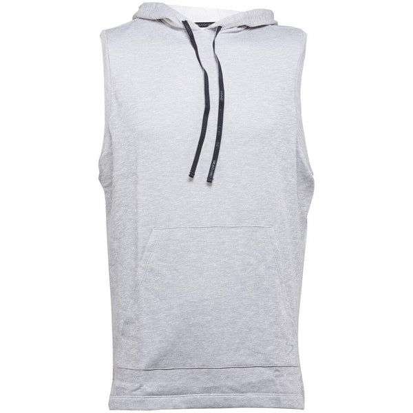 Hoodie - Beach Body Crossover Sleeveless Hoodie Grey Heather