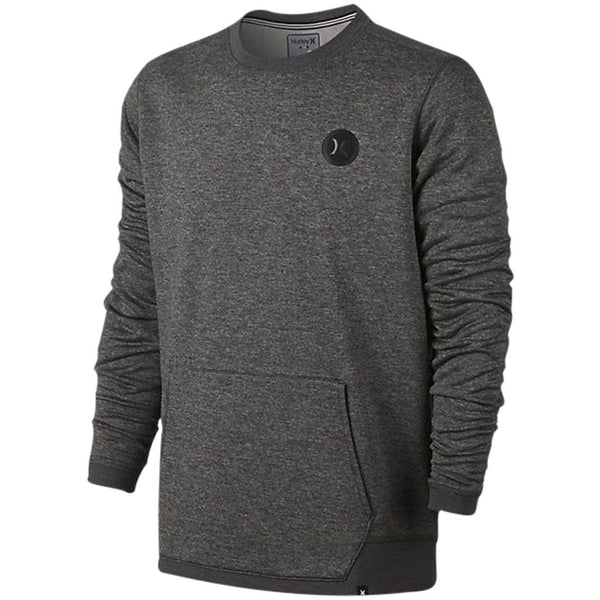 Hoodie - Hurley Dri-Fit Disperse Crew Charcoal Heather