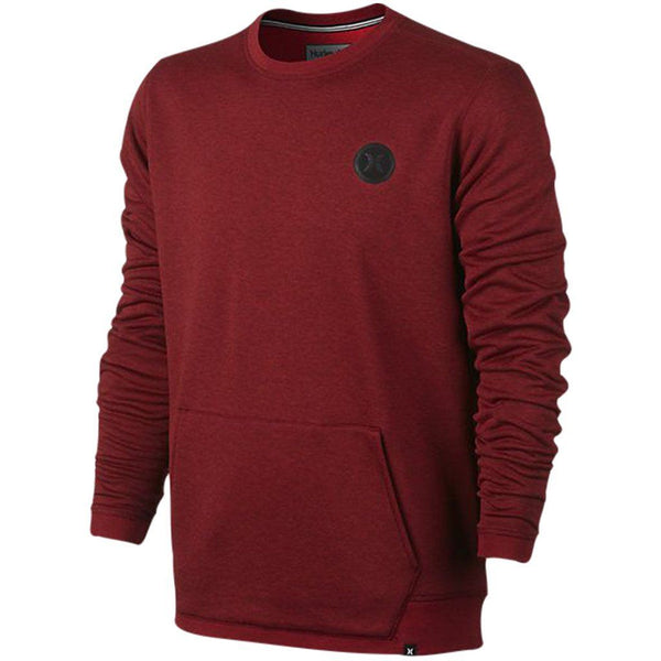 Hoodie - Hurley Dri-Fit Disperse Crew Night Maroon