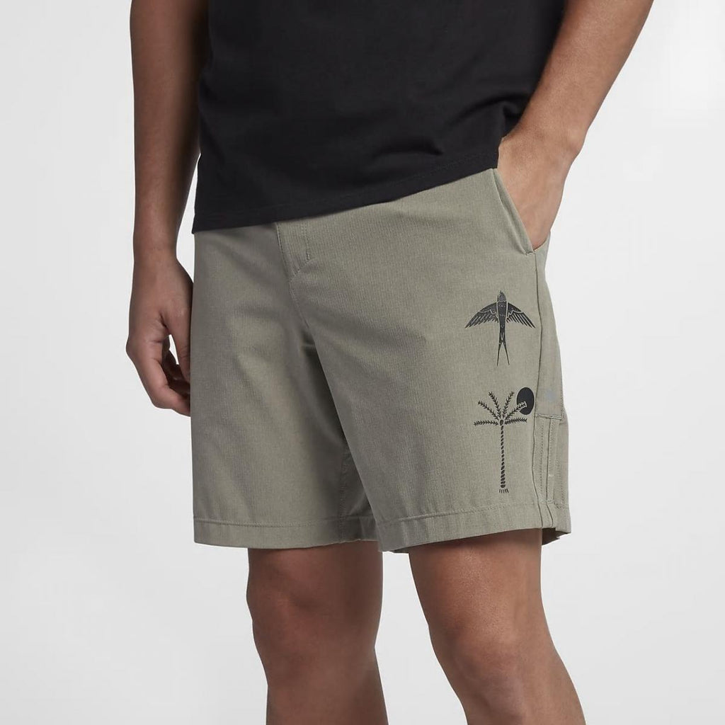 "Hurley Alpha Trainer K-38 Short 18"" Dark Stucco"